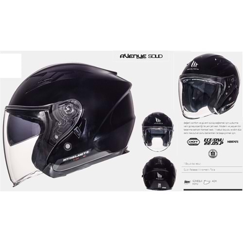 KASK MT AVENUE SV SOLID GLOSS BLACK - S BEDEN