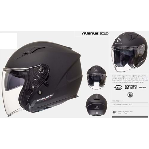 KASK MT AVENUE SV SOLID MATT BLACK - S