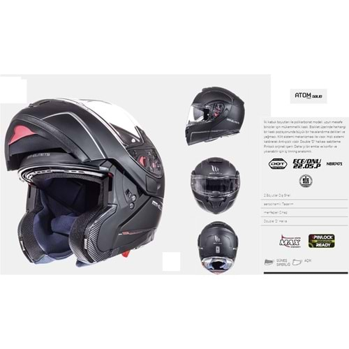 KASK MT ATOM SV SOLID MATT BLACK - S